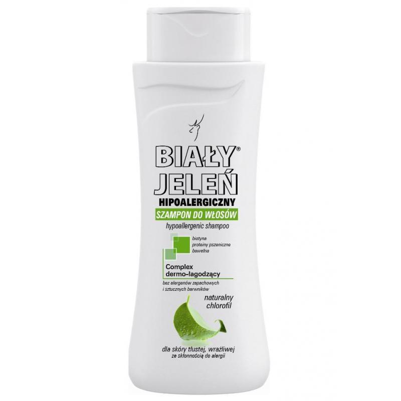 Hipoalergiczny szampon do włosów z naturalnym chlorofilem 300ml