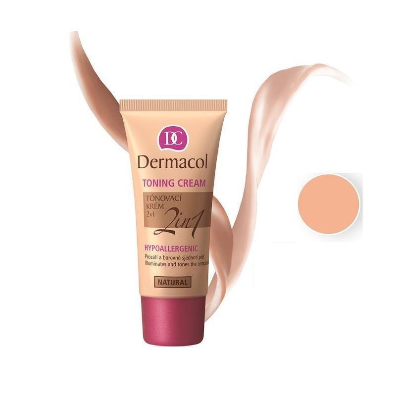 Toning Cream 2in1 Hypoallergenic krem nawilżający i podkład do twarzy Natural 30ml