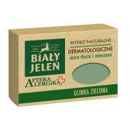 Apteka Alergika mydło naturalne dermatologiczne do skóry tłustej i mieszanej Glinka Zielona 125g