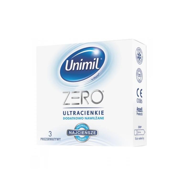 Zero lateksowe prezerwatywy 3szt