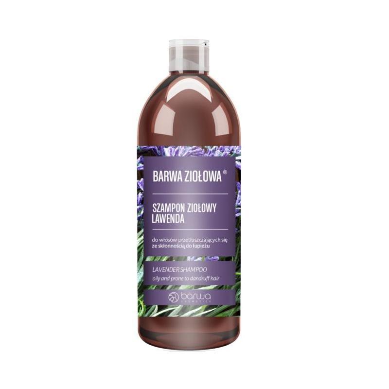 Ziołowa szampon ziołowy do włosów przetłuszczających się ze skłonnością do łupieżu Lawenda 480ml