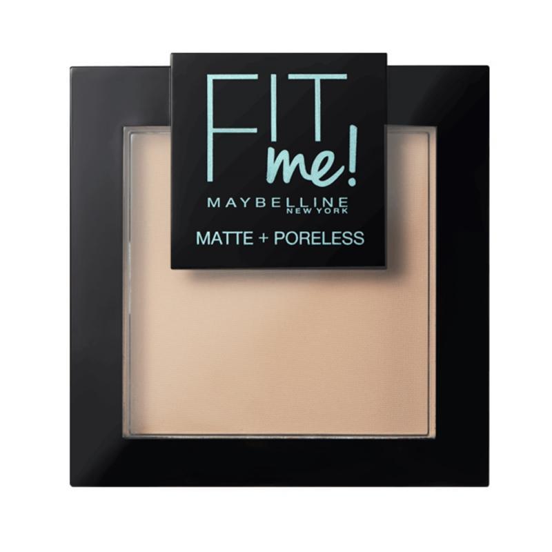 Fit Me Matte Poreless Pressed Powder puder matujący do twarzy w kompakcie 110 Porcelain 9g