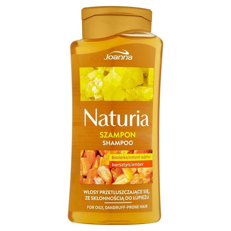 Naturia szampon do włosów przetłuszczających się Bursztyn i Biosiarka 500ml