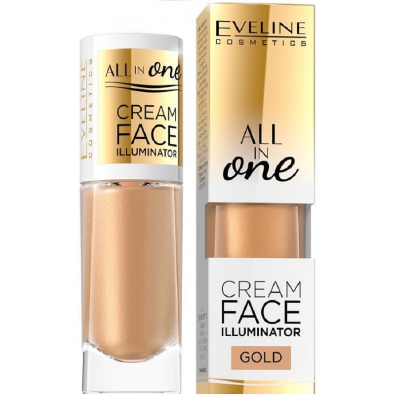 All In One Cream Face Illuminator kremowy rozświetlacz w płynie Gold 8ml