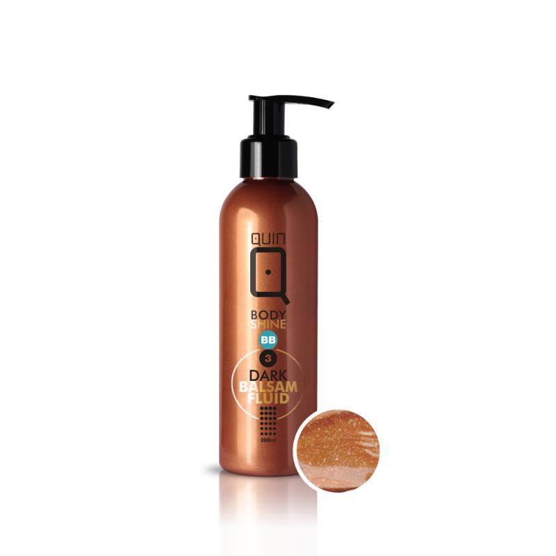 Quin BB Body Shine Balsam-Fluid balsam nadający efekt naturalnej opalenizny 3 Dark 200ml