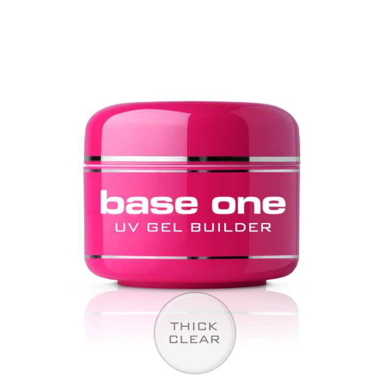 Base One Thick Clear bezbarwny żel budujący do paznokci 15g