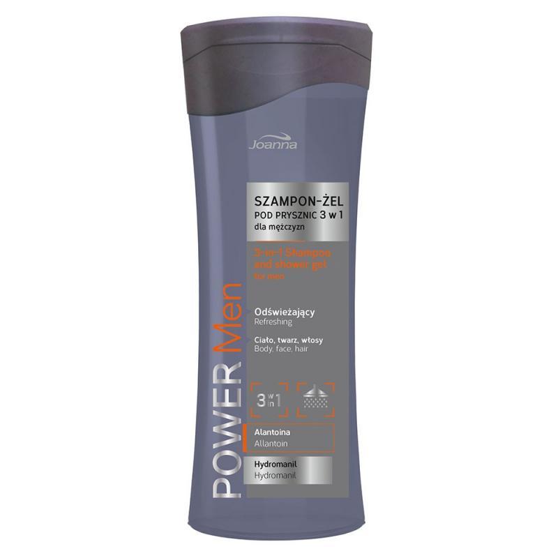 Power Men odświeżający szampon-żel pod prysznic 3w1 dla mężczyzn 300ml