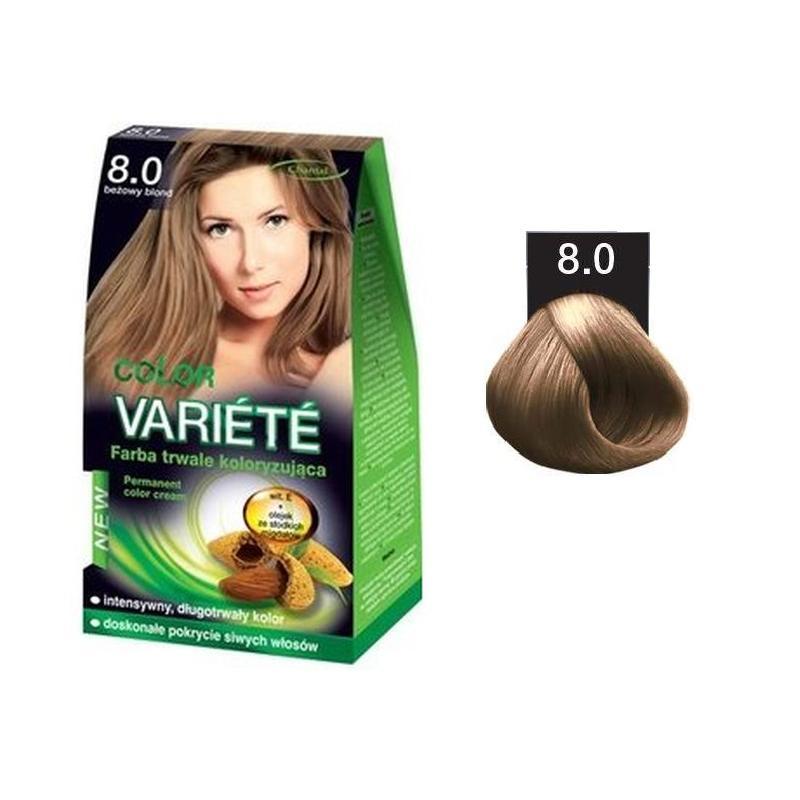 Variete Color Permanent Color Cream farba trwale koloryzująca 8.0 Beżowy Blond  50g