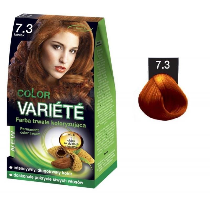 Variete Color Permanent Color Cream farba trwale koloryzująca 7.3 Koniak 50g