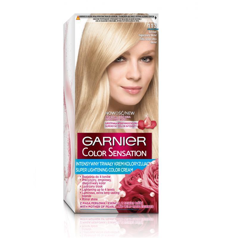 Color Sensation krem koloryzujący do włosów 113 Jedwabisty Beżowy Superjasny Blond