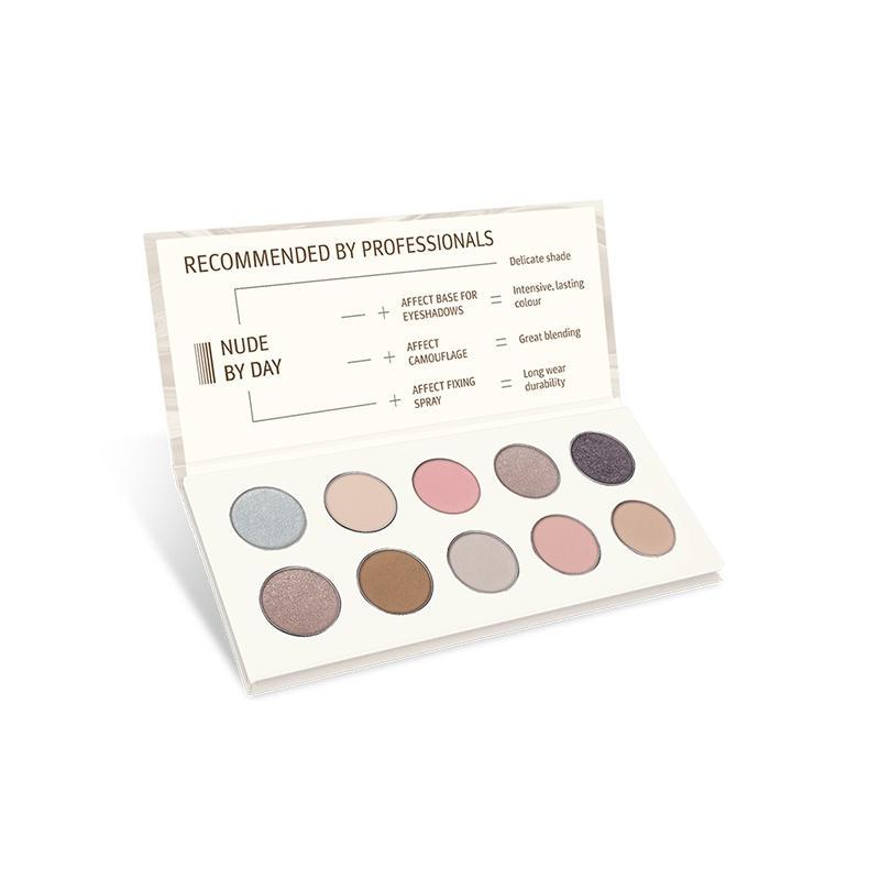 Nude By Day Pressed Eyeshadow Palette paleta cieni prasowanych 10x2.5g