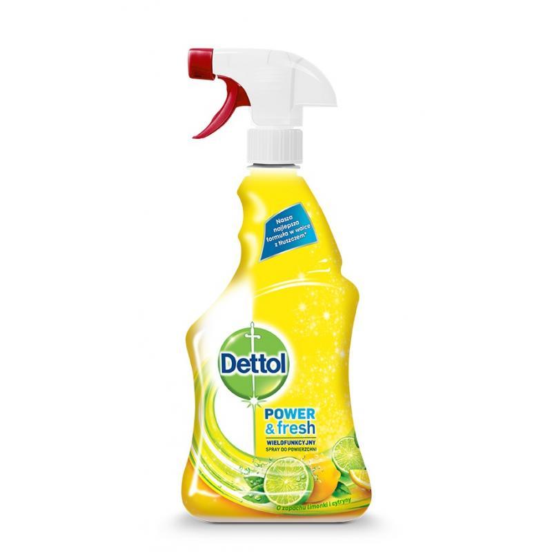 Dettol spray do czyszczenia powierzchni wielofunkcyjny Power&Fresh Limonka i Cytryna 500ml