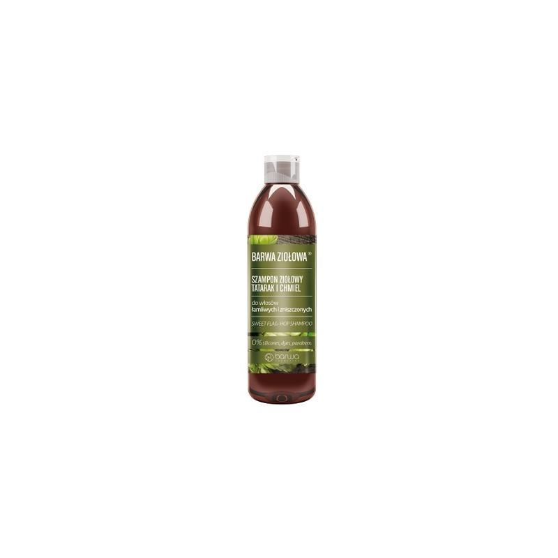 Ziołowa szampon ziołowy do włosów łamliwych i zniszczonych Tatarak i Chmiel 250ml