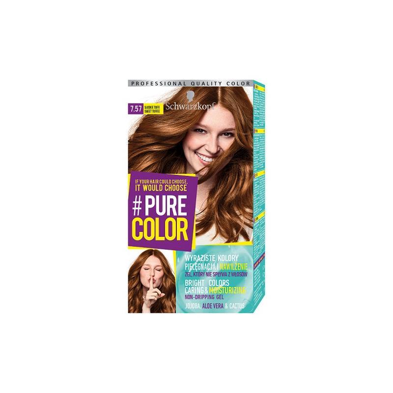 Pure Color farba do włosów w żelu trwale koloryzująca 7.57 Słodkie Toffee