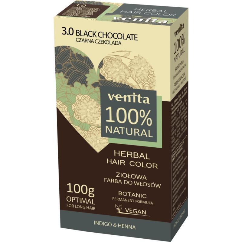 Herbal Hair Color ziołowa farba do włosów 3.0 Czarna Czekolada 100g