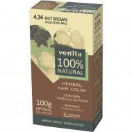 Herbal Hair Color ziołowa farba do włosów 4.34 Orzechowy Brąz 100g