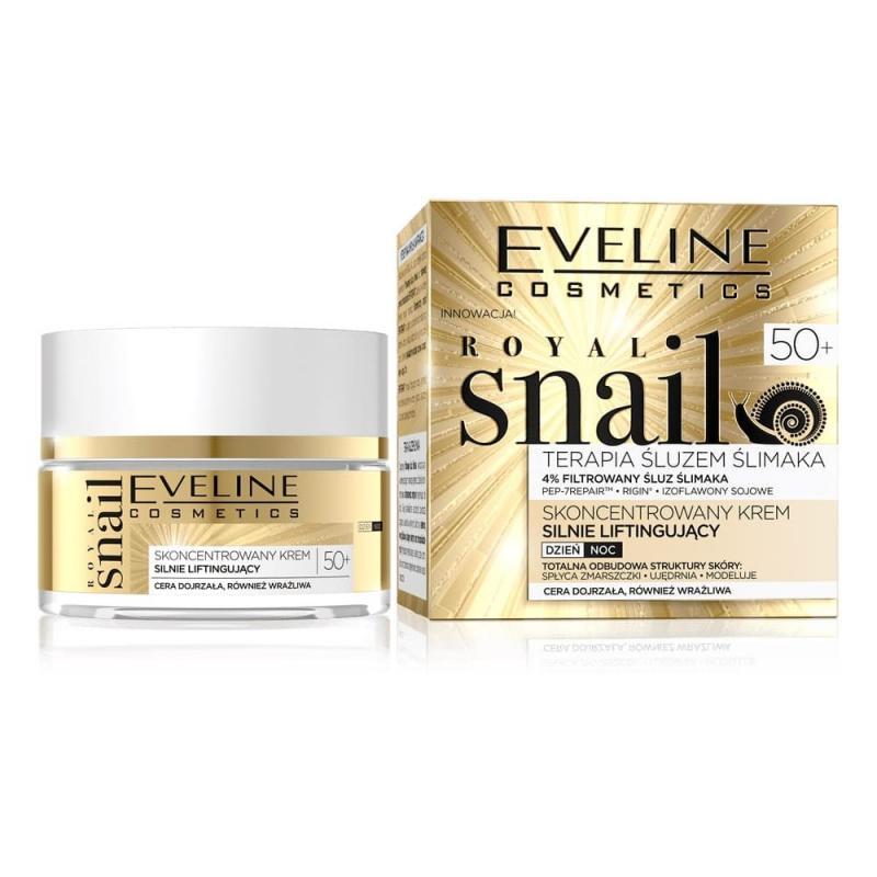 Royal Snail 50+ terapia śluzem ślimaka skoncentrowany krem silnie liftingujący na dzień i na noc 50ml