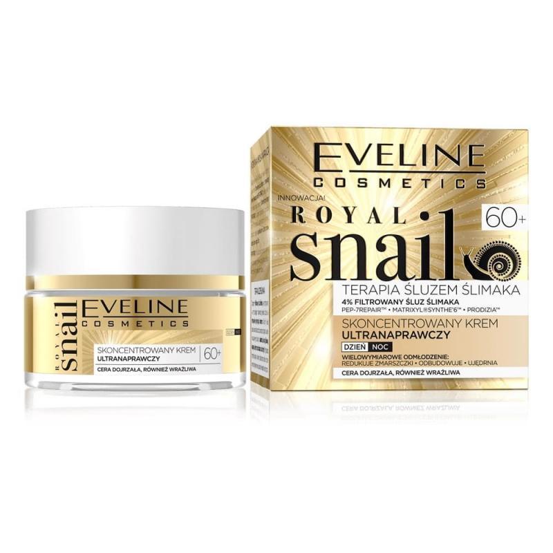 Royal Snail 60+ terapia śluzem ślimaka skoncentrowany krem ultranaprawczy na dzień i na noc 50ml