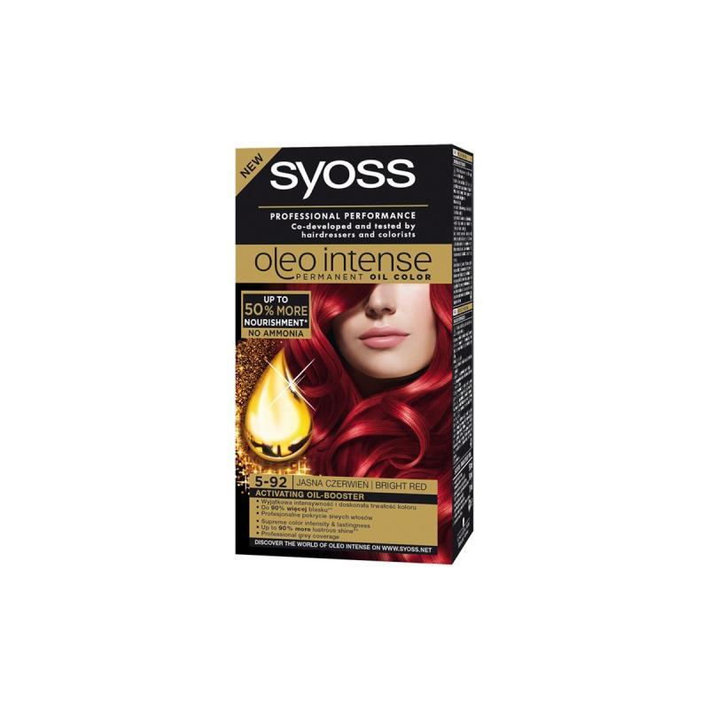 Oleo Intense farba do włosów trwale koloryzująca z olejkami 5-92 Jasna Czerwień