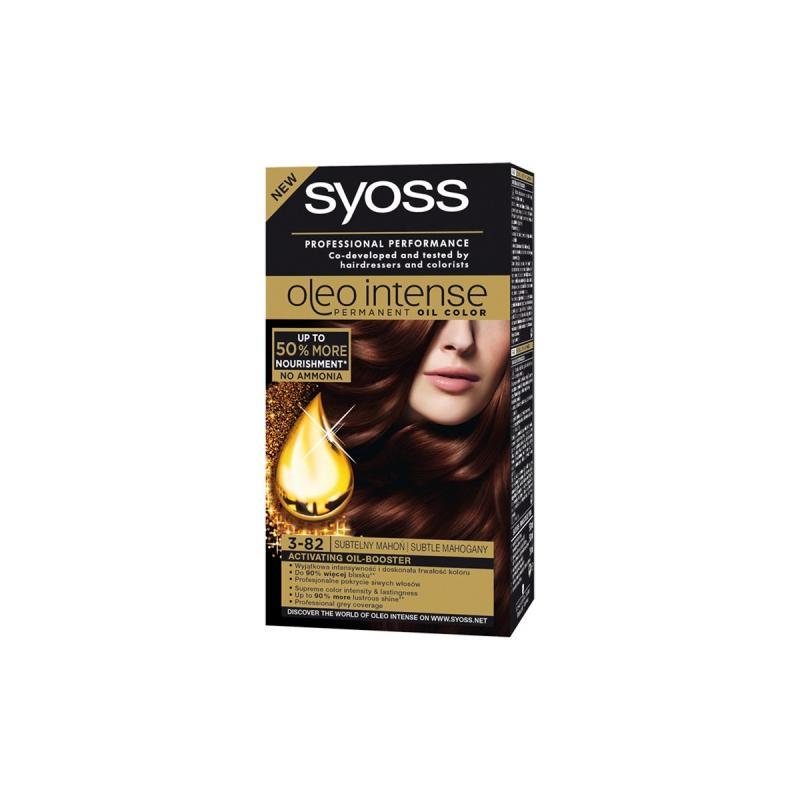 Oleo Intense farba do włosów trwale koloryzująca z olejkami 3-82 Subtelny Mahoń