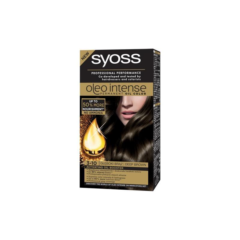 Oleo Intense farba do włosów trwale koloryzująca z olejkami 3-10 Głęboki Brąz
