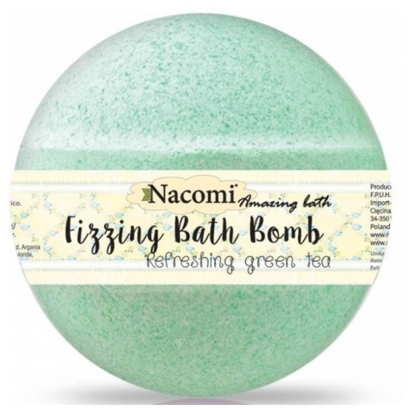 Fizzing Bath Bomb kula do kąpieli Refreshing Green Tea 130g