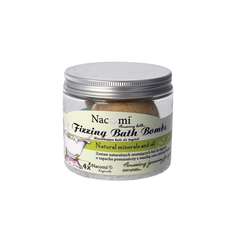Fizzing Bath Bombs zestaw kul do kąpieli 2x Orange-Vanilla Ice Cream + 2x Refreshing Green Tea 330g