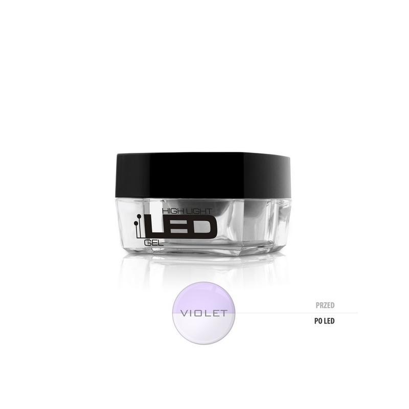 High Light Led Gel średniogęsty jednofazowy żel do paznokci Violet 4g