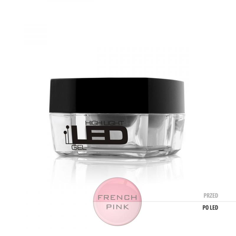 High Light Led Gel średniogęsty jednofazowy żel do paznokci French Pink 30g