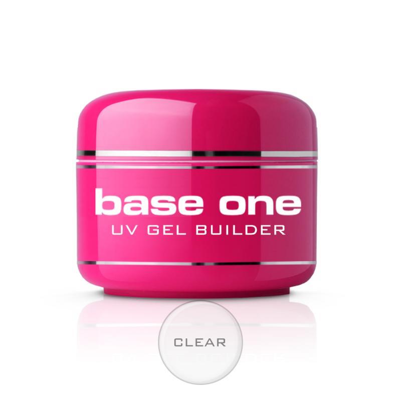 Base One Clear bezbarwny żel budujący do paznokci 30g