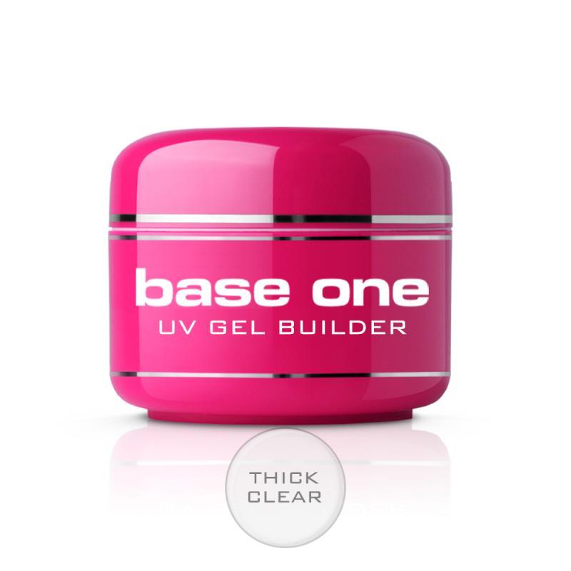 Base One Thick Clear bezbarwny żel budujący do paznokci 30g