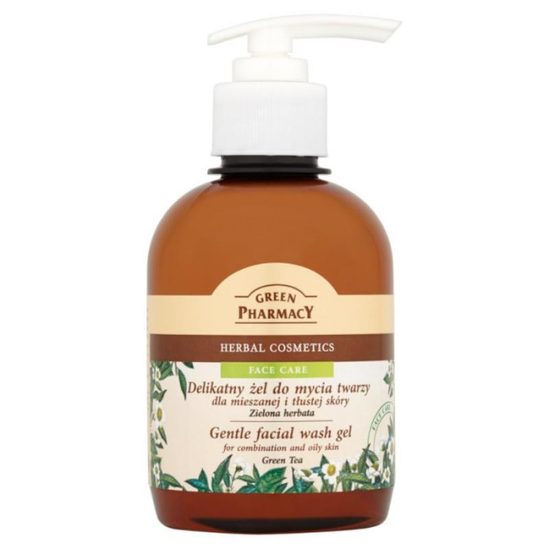 Gentle facial Wash Gel żel do mycia twarzy dla mieszanej i tłustej skóry Zielona Herbata 270ml