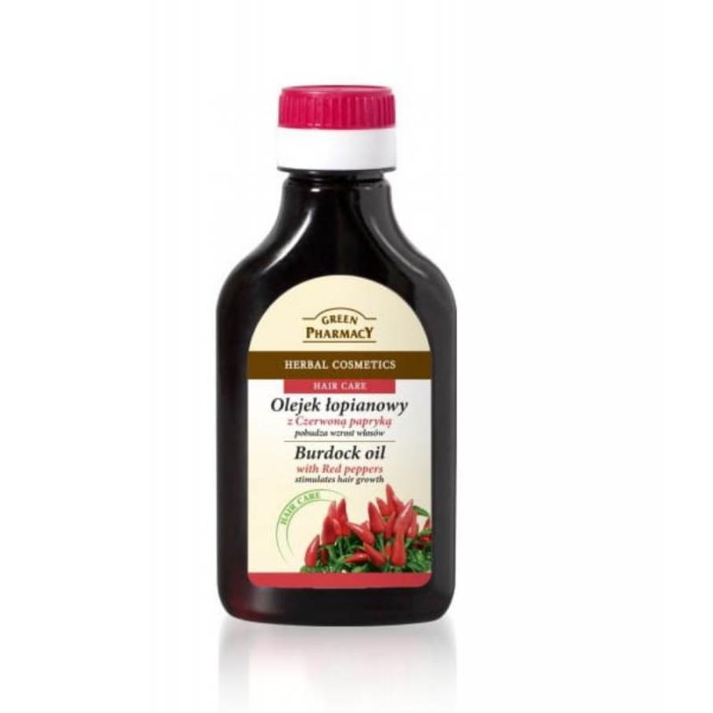 Burdock Oil olejek łopianowy stymulujący wzrost włosów Czerwona Papryka 100ml