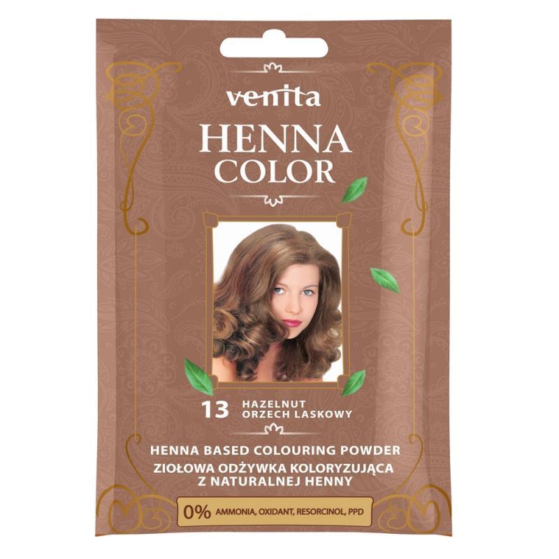 Henna Color ziołowa odżywka koloryzująca z naturalnej henny 13 Orzech Laskowy
