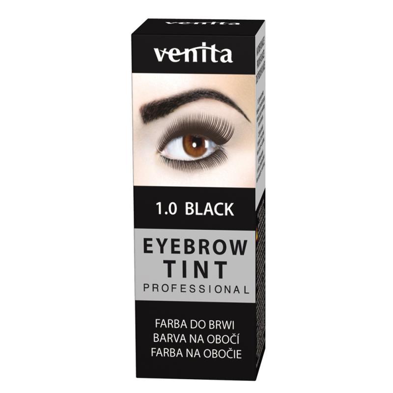 Professional Eyebrow Tint farba do brwi w proszku 1.0 Black