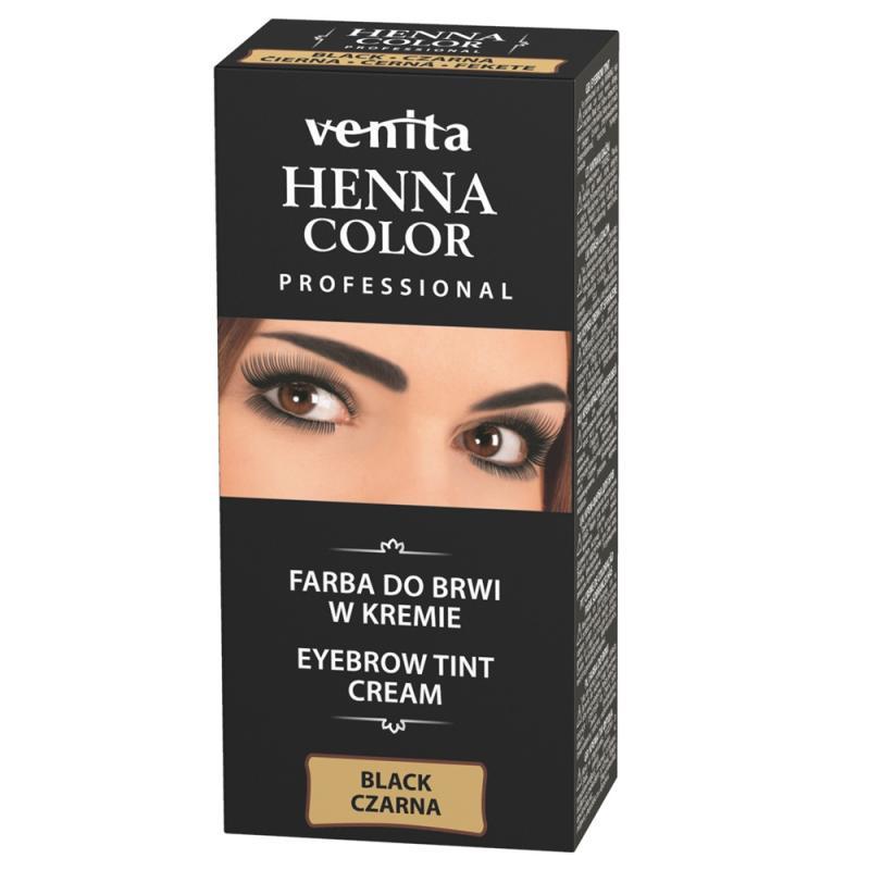 Professional Henna Color farba do brwi w kremie Czarna