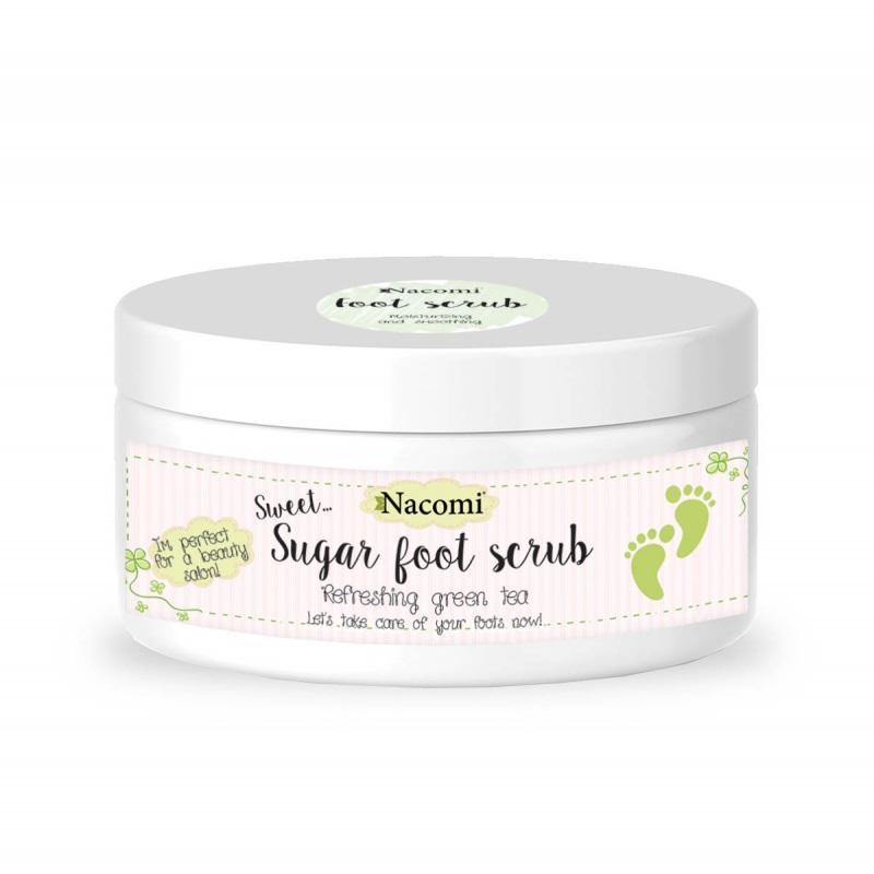 Sugar Foot Scrub naturalny cukrowy peeling do stóp Zielona Herbata 125g
