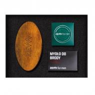 Schludny Drwal zestaw szczotka do brody + olejek do brody 30ml + mydło do brody z węglem drzewnym 85ml